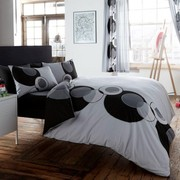Solo Black Grey Circle Design Duvet Set